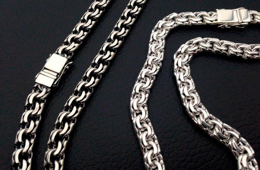 Цепочка из серебра с плетением Бисмарк